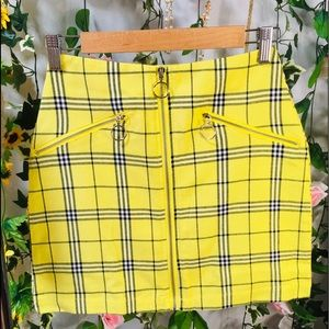 NWOT Factorie yellow checked skirt 💛 AU8